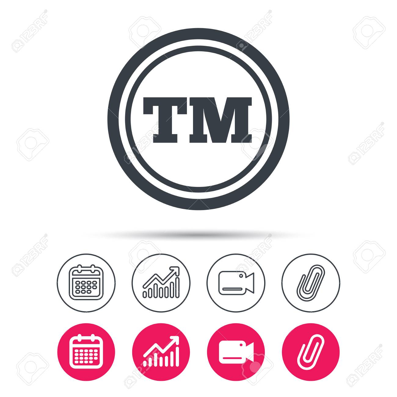 Registered tm trademark icon intellectual work protection symbol registered tm trademark icon intellectual work protection symbol statistics chart calendar and video biocorpaavc Gallery