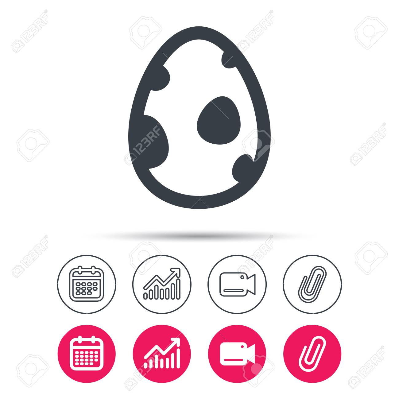 Dinosaur Egg Icon Birth Symbol Pokemon Egg Concept Statistics