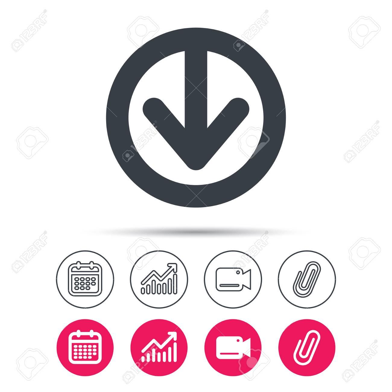 338047b258a6f Descargar icono. Cargue el símbolo de datos de internet. Gráfico de  estadísticas