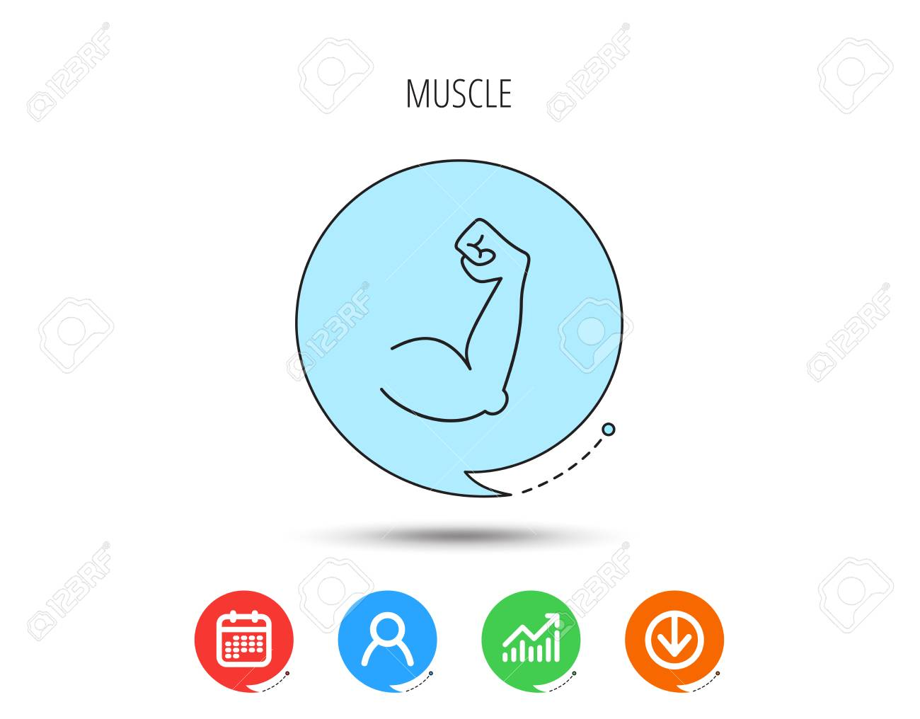 biceps muscle icon bodybuilder strong arm sign weightlifting