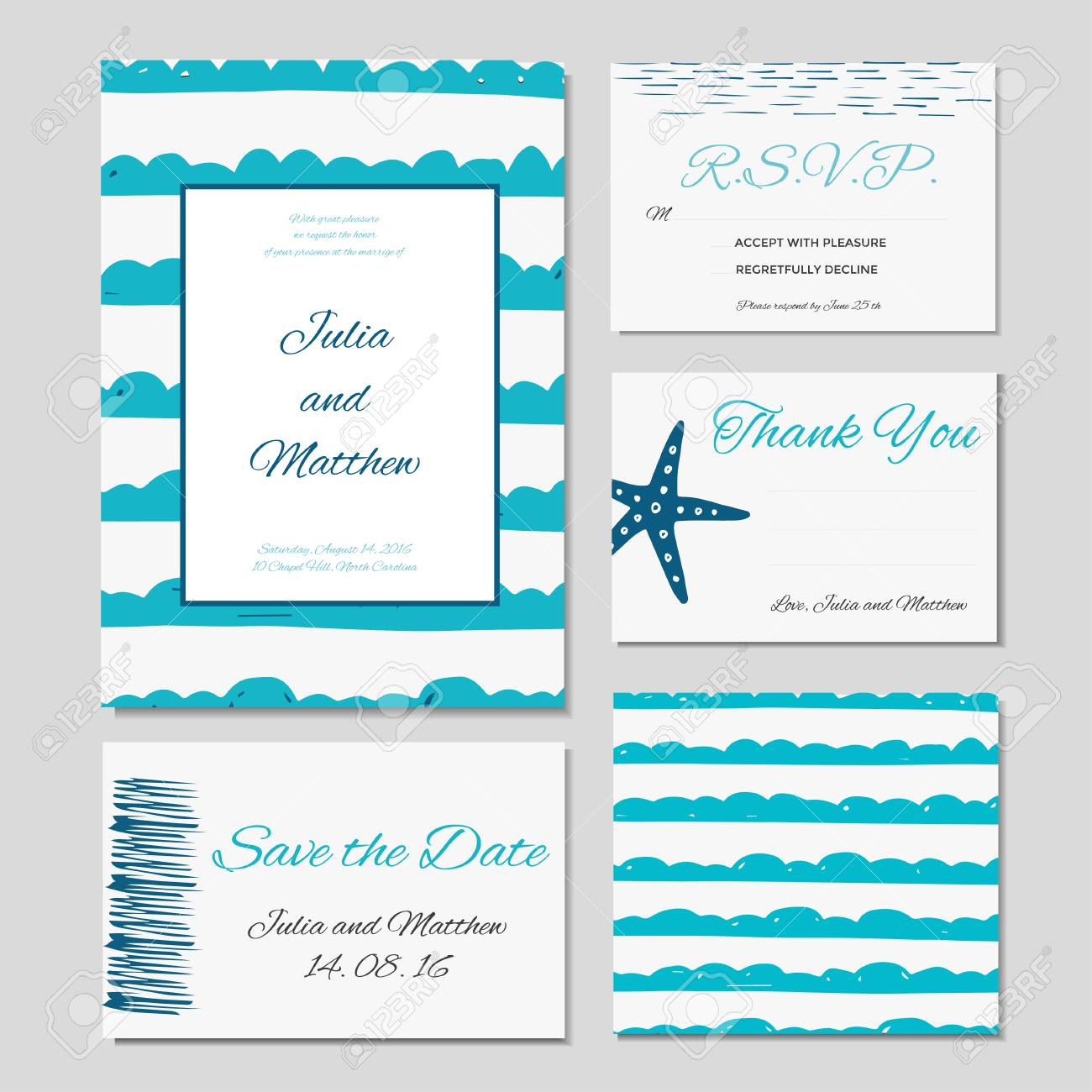 Wedding Invitation Thank You Save The Date Baby Shower Menu