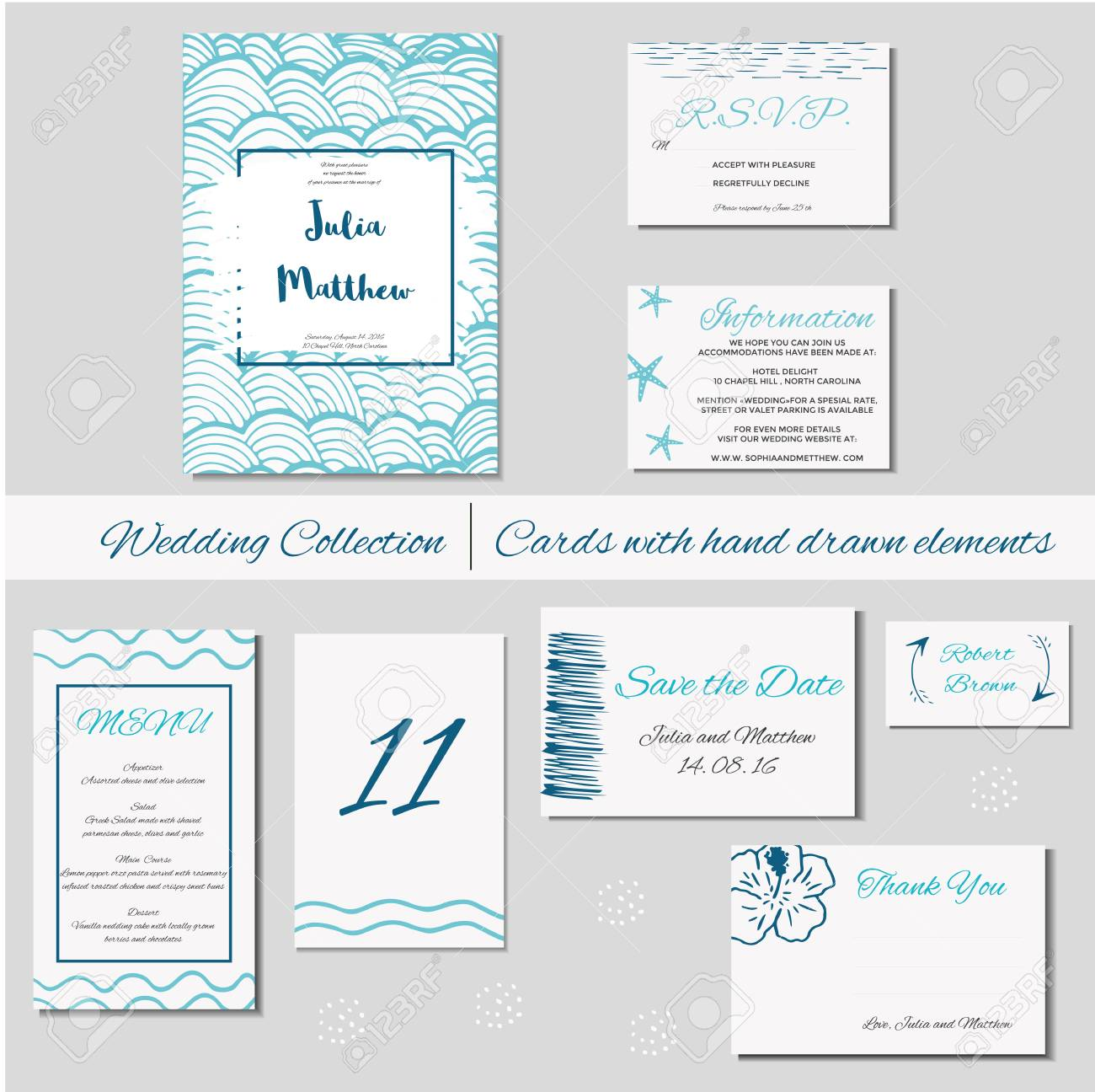 Wedding Invitation, Thank You, Save The Date, Baby Shower, Menu, Information