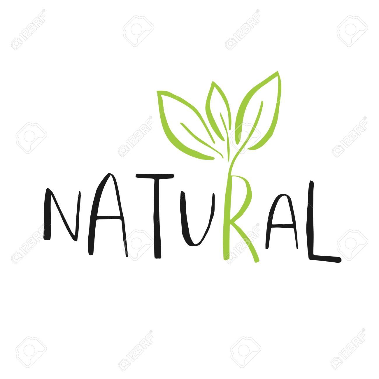 vector eco bio green logo or sign vegan raw healthy food