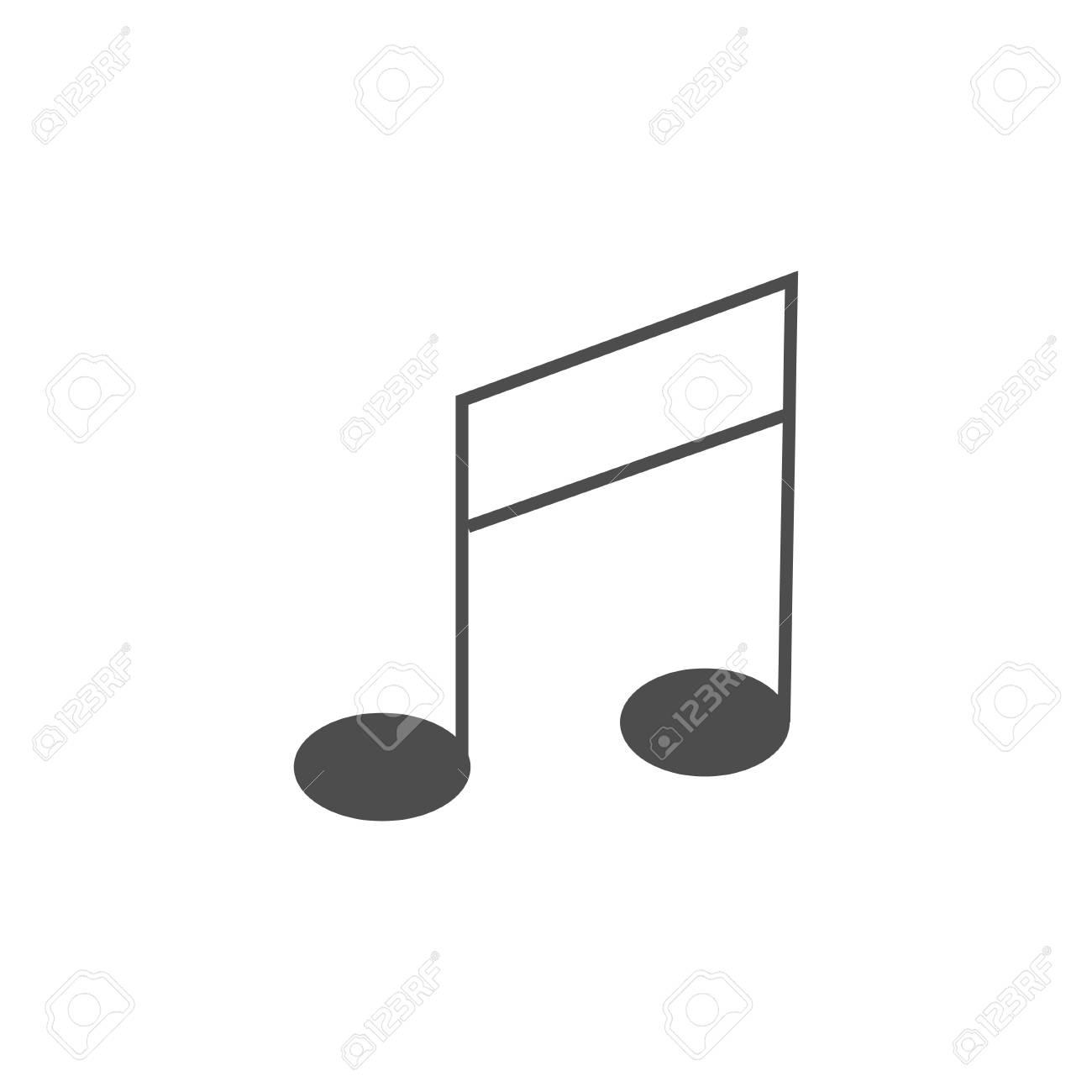 Music note icon isolated on white background flat style creative music note icon isolated on white background flat style creative symbol for your web buycottarizona Image collections
