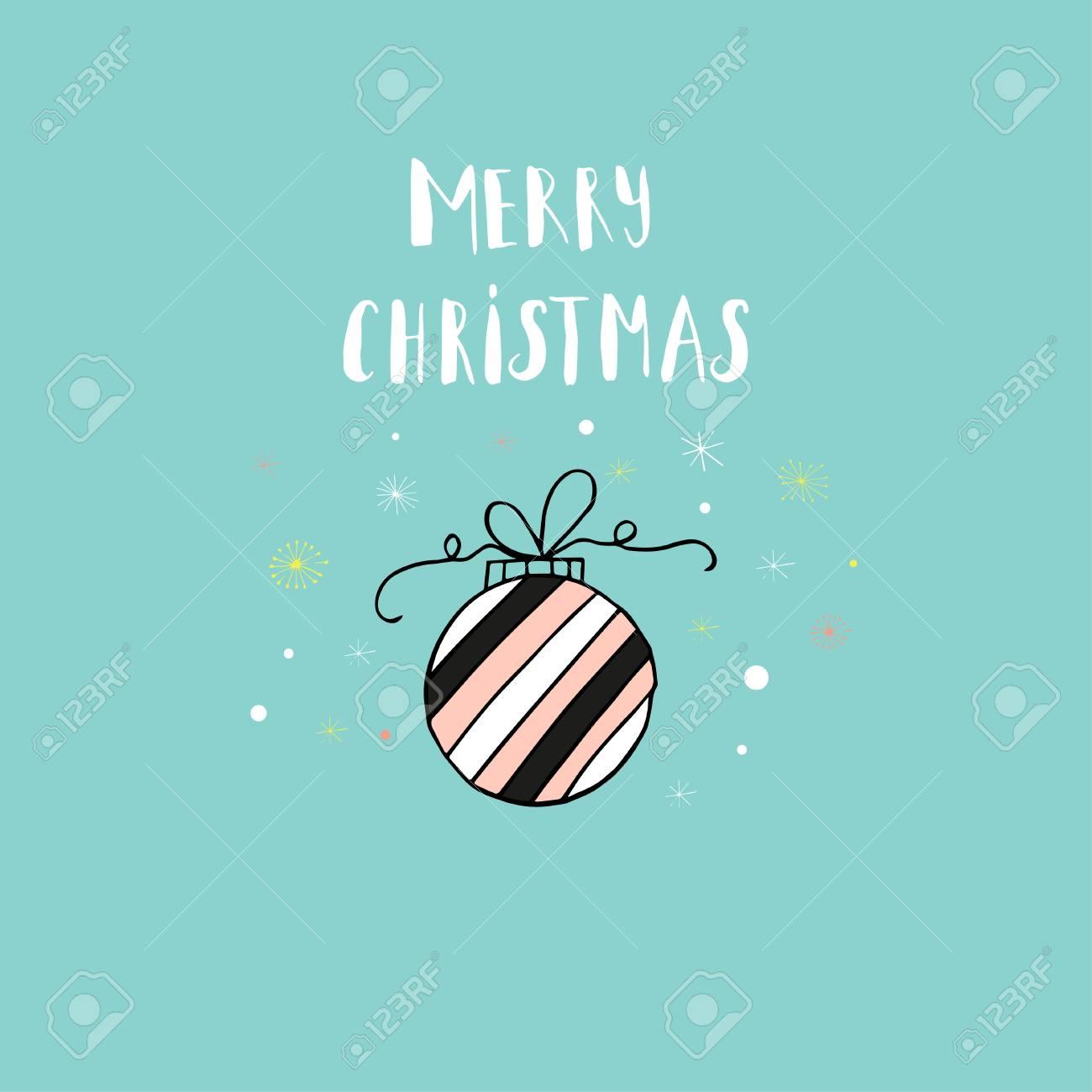 Carte De Voeux Joyeux Noel Joyeux Avec Decoration De Vacances Style