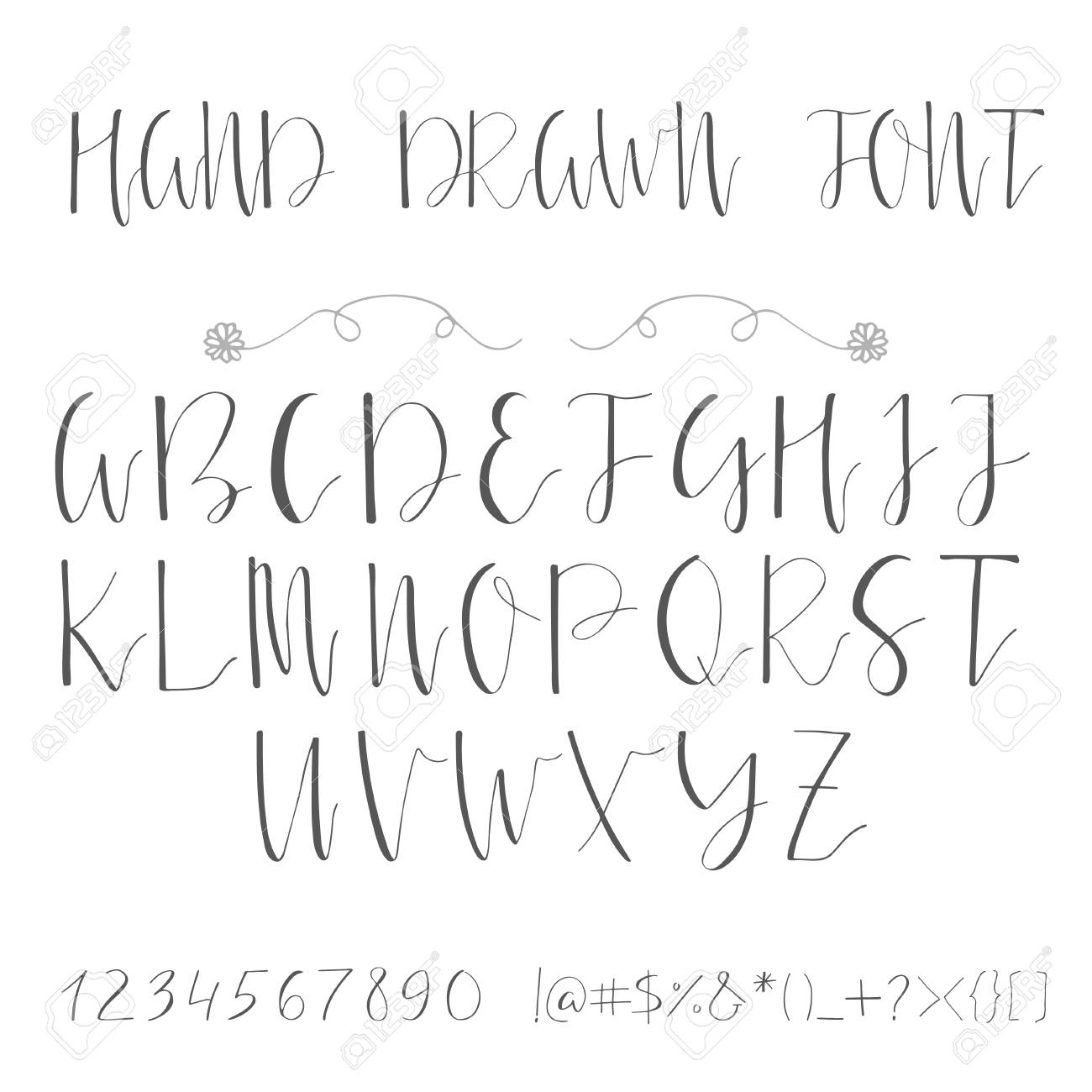 Handwritten calligraphy font  Made with ink  Modern calligraphy
