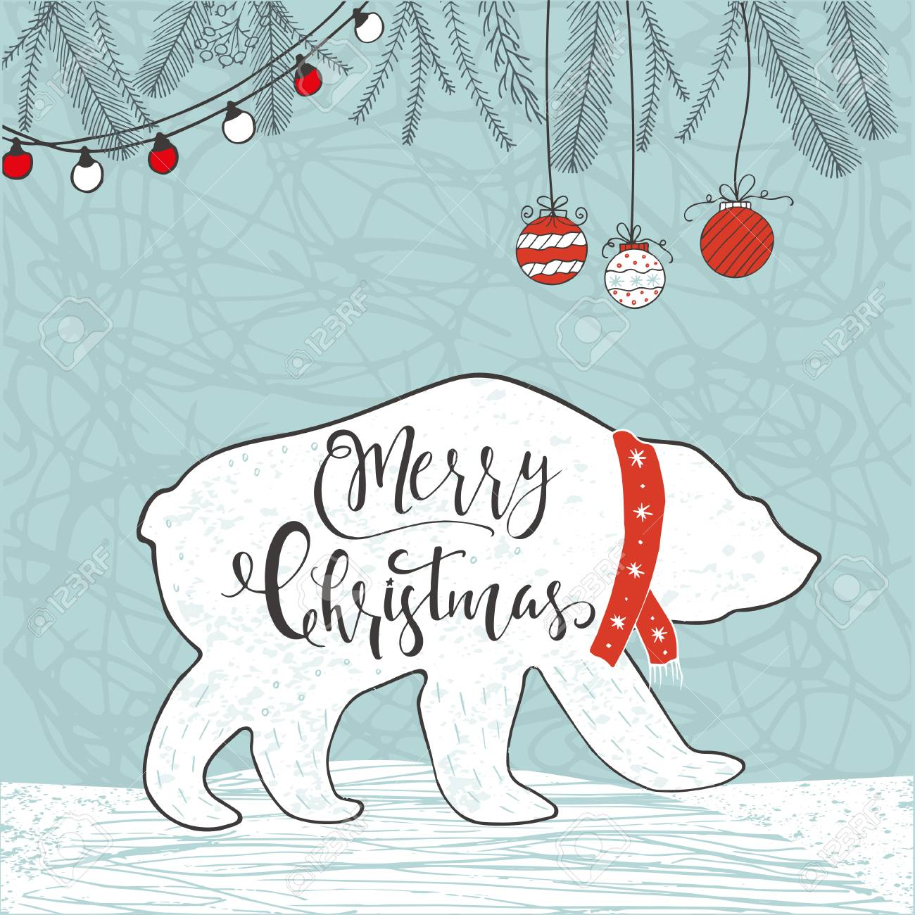 Cute Christmas Gift Card With Lettering Quote Merry Christmas ...