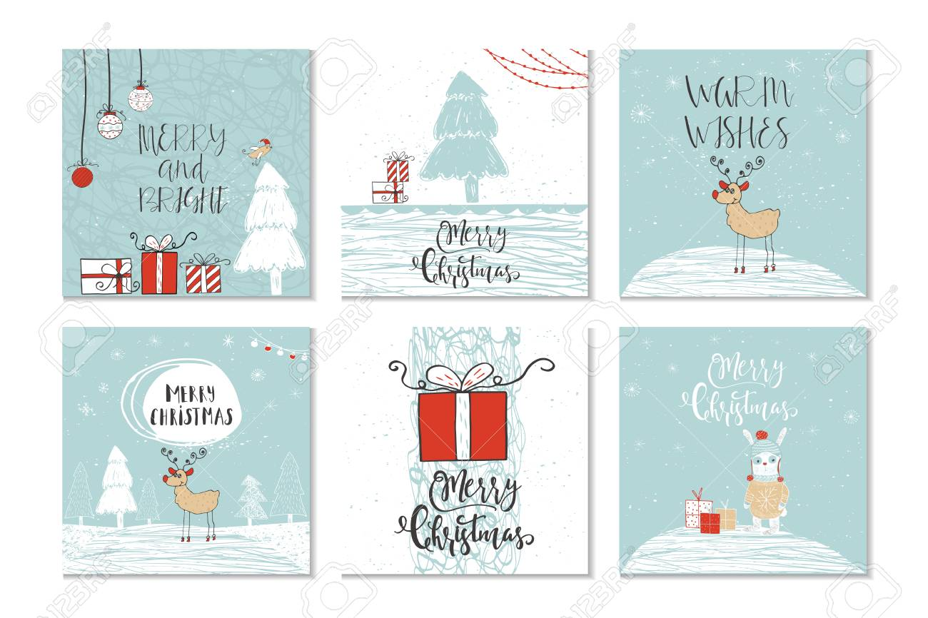 Christmas Gift Card Poster.Set Of 6 Cute Christmas Gift Cards With Quote Merry Christmas