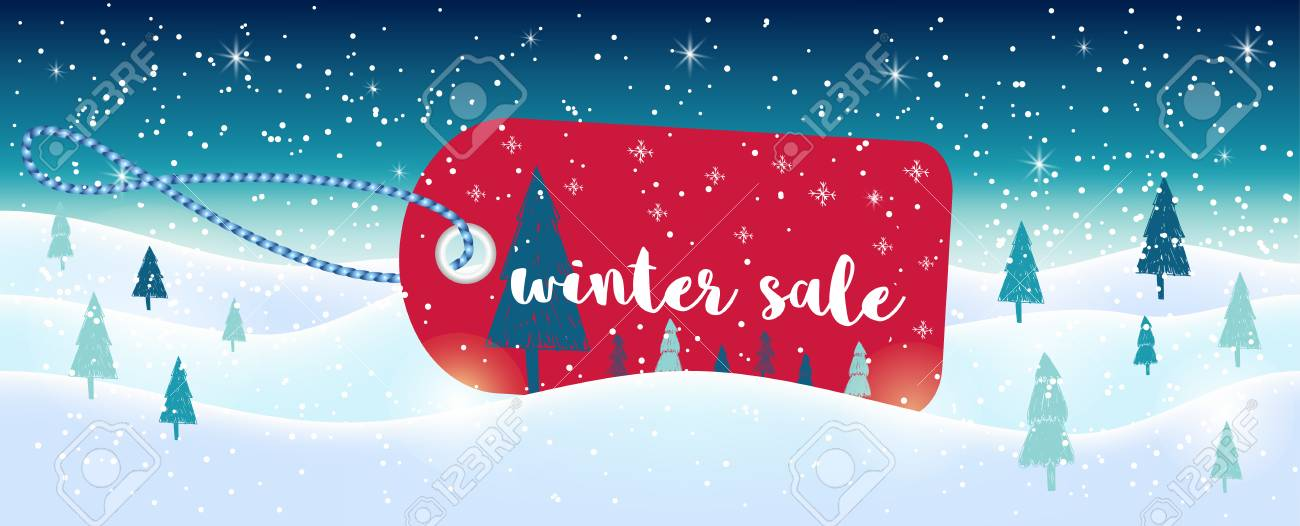 winter social media sale banners and ads web template collection