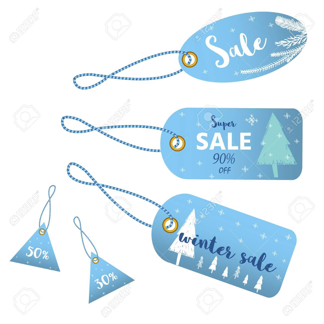 Winter Sale Banners Car Design Banners