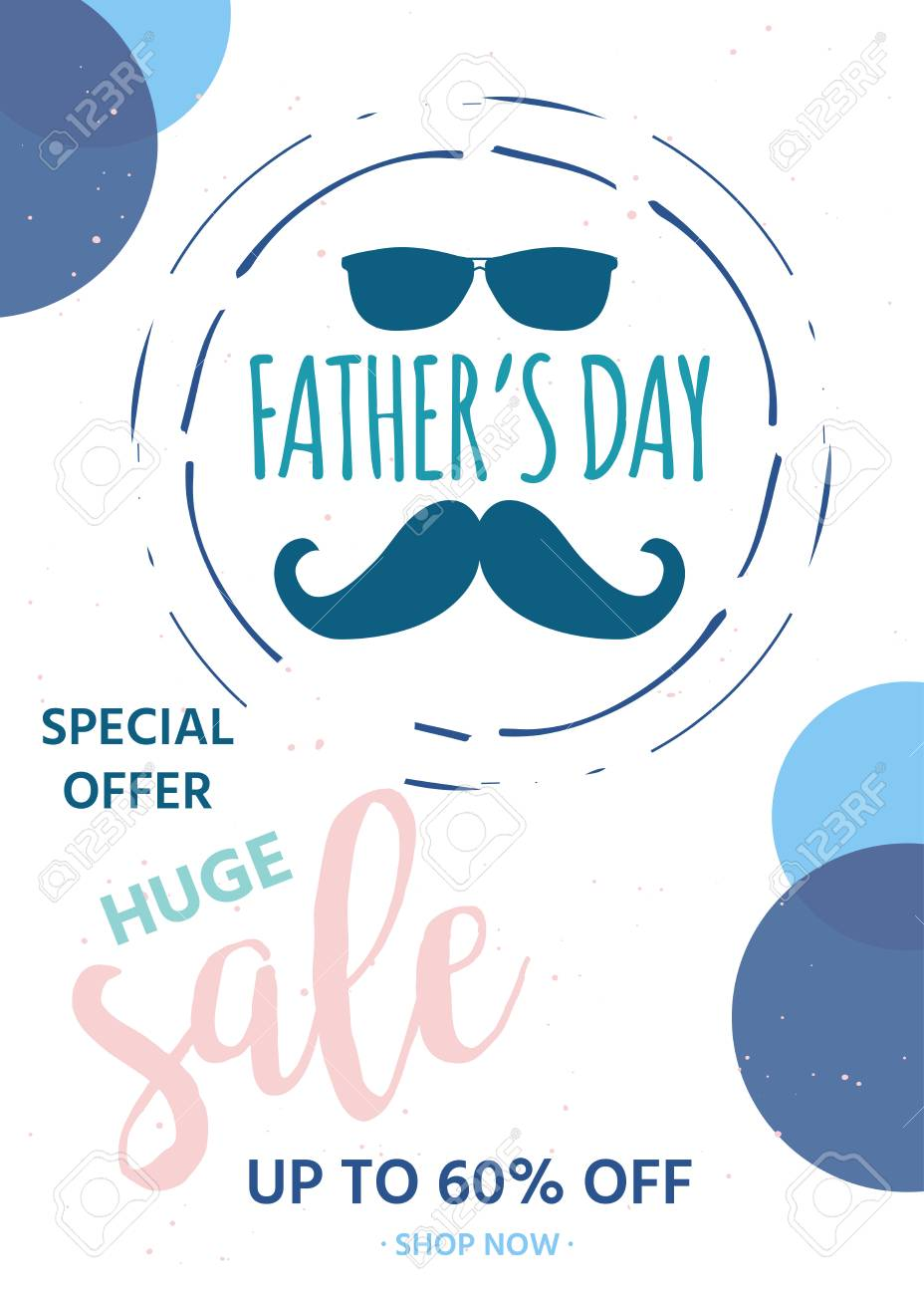 62bda6e0b7002 Happy Father s Day Sale. Vector Illustration For Promotion