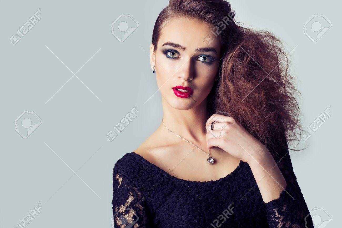 Lady stylish hair salon video