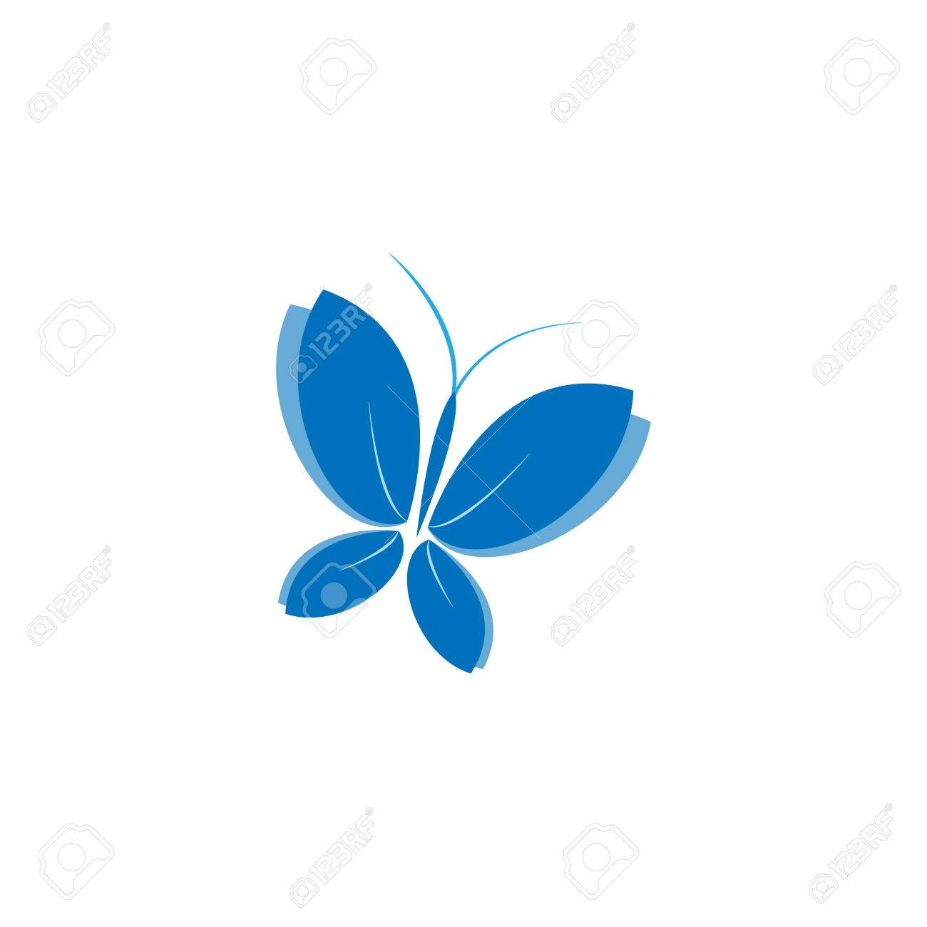 Eco blue icon symbol of a butterfly vector illustration isolated eco blue icon symbol of a butterfly vector illustration isolated on a light background biocorpaavc Images