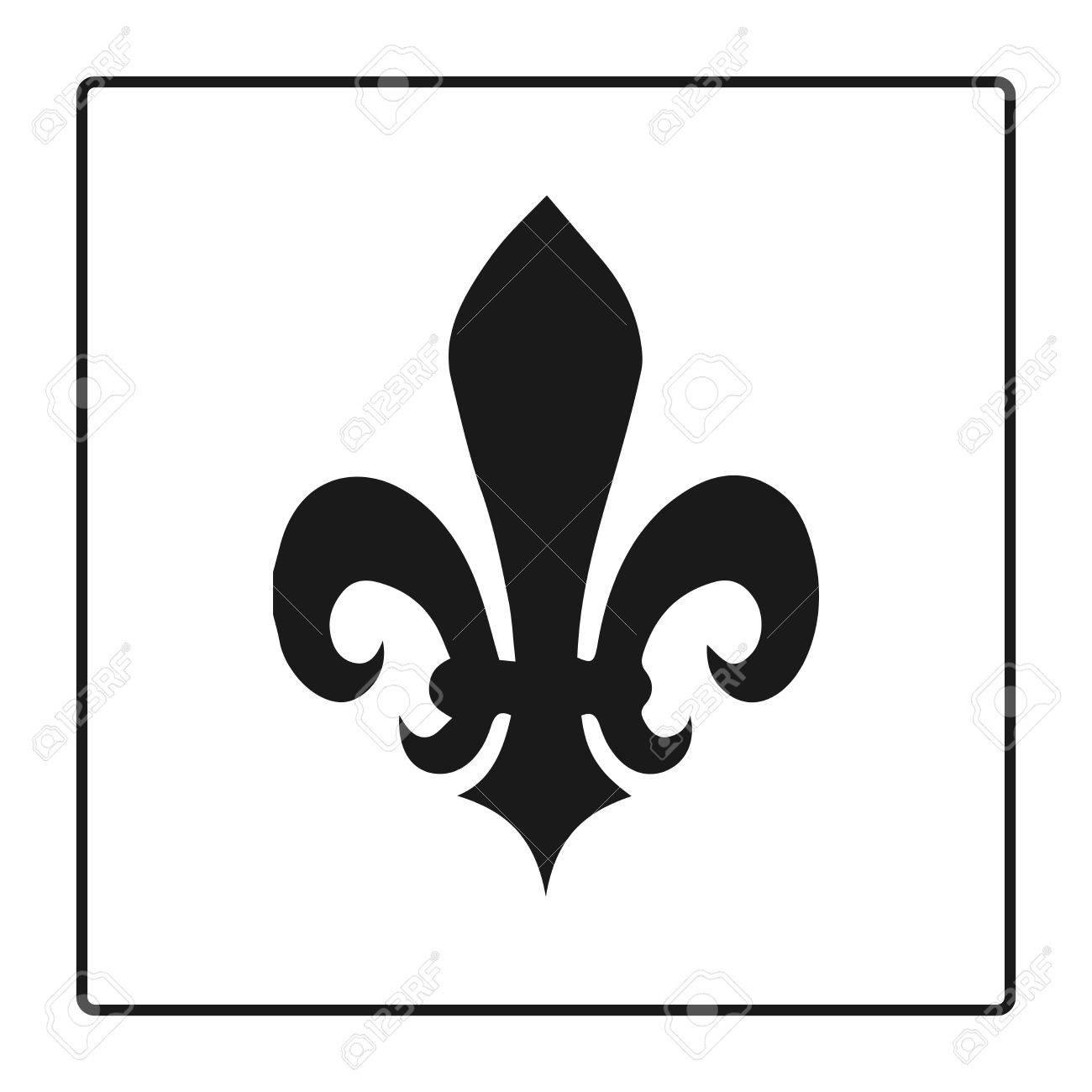 Fleur de lis symbol silhouette heraldic symbol vector fleur de lis symbol silhouette heraldic symbol vector illustration medieval sign biocorpaavc
