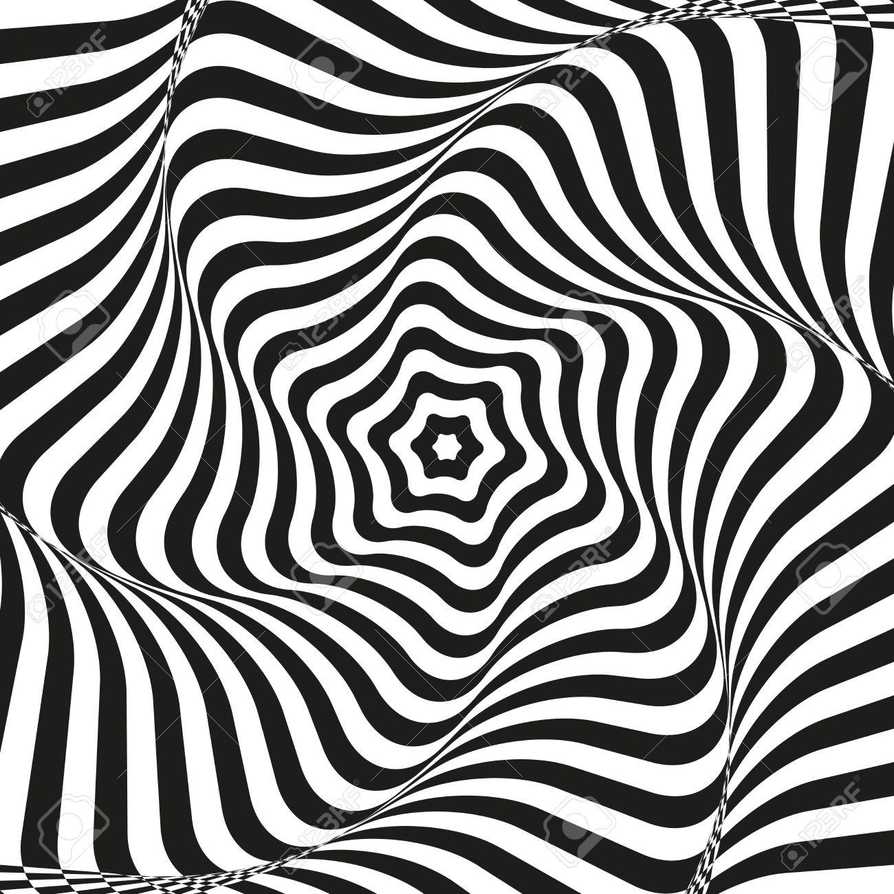 Optical Illusion Art Background Optical Illusion Black And