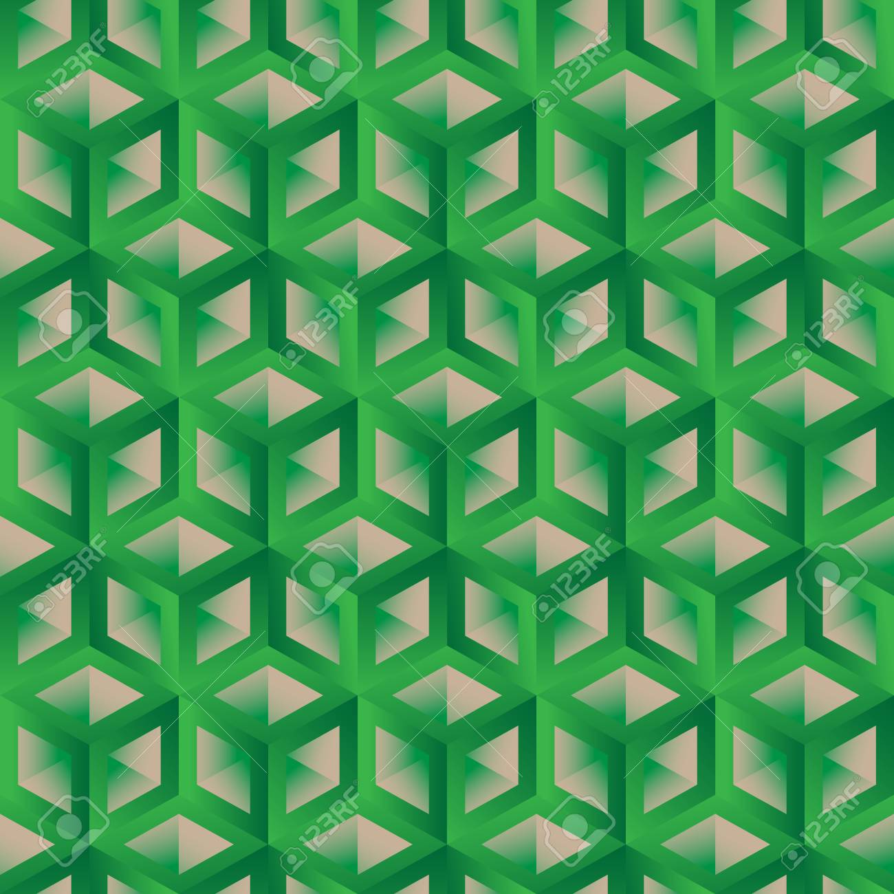 hexagon pattern seamless background 3d lattice with gradient