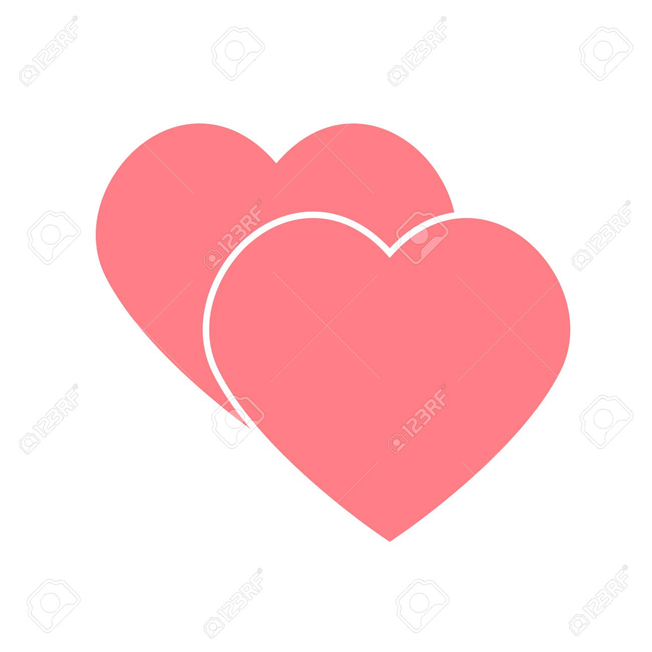 Coração De Vetor Abstrato Elemento Para O Projeto Ilustração Vetorial Para Dia Dos Namorados Conceito De Amor Papel De Parede Feliz Bonito Boa