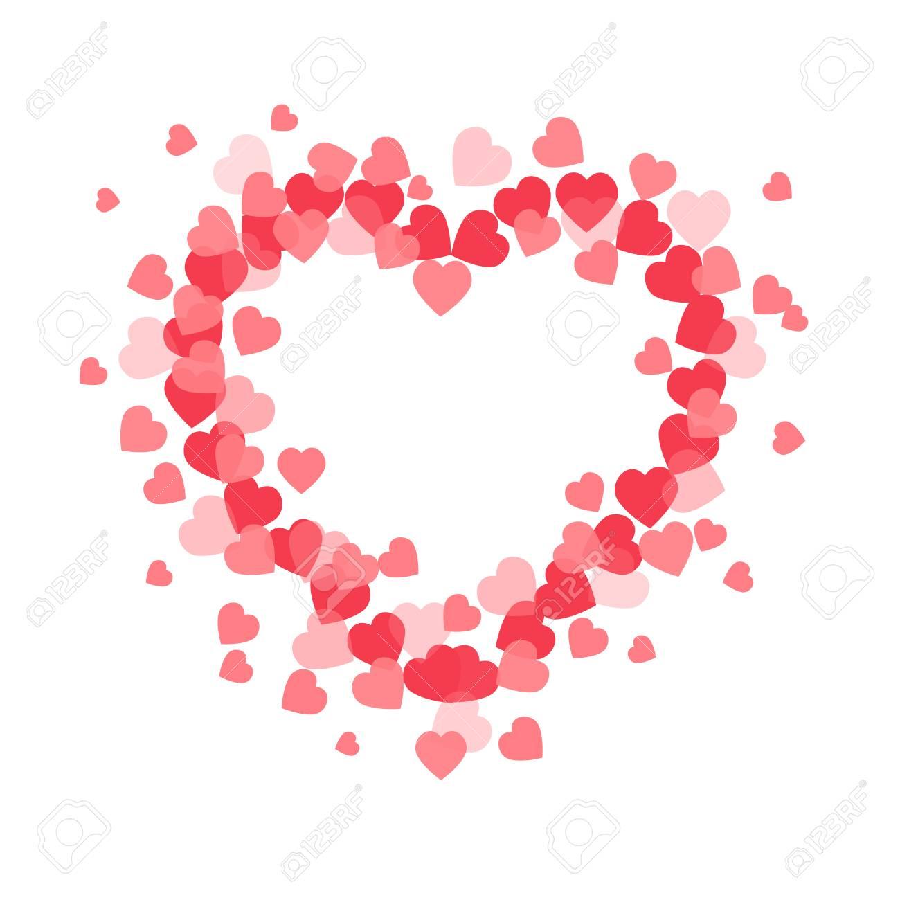Corazón De Vector Abstracto. Elemento Para Marco. Ilustración ...