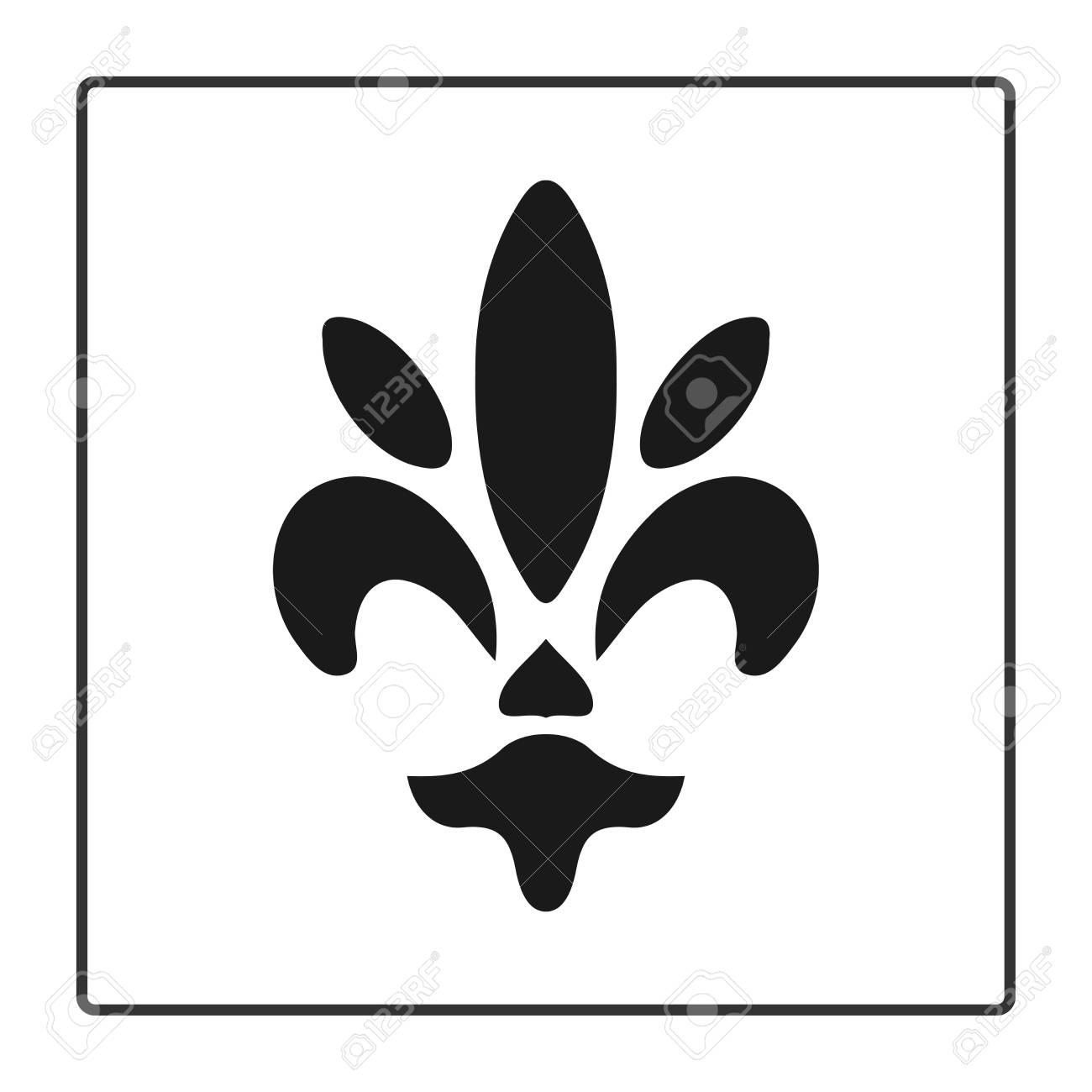 Fleur De Lis Symbol Silhouette Heraldic Symbol Vector