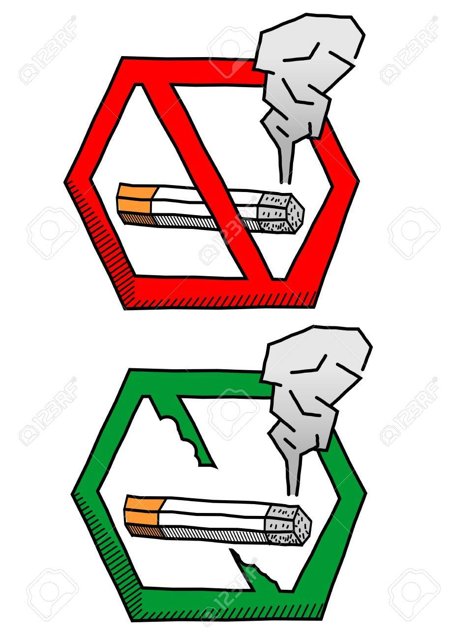 no smoke sign look like hand drawing stock photo picture and