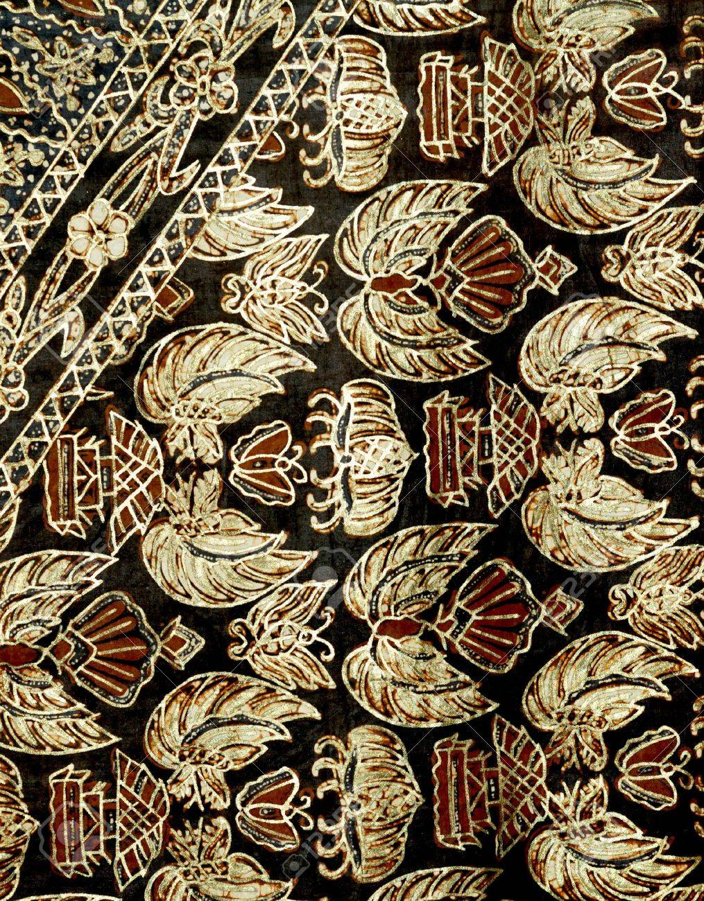 Indonesia, Java: Fabric with printed pattern; a traditional indonesian work Stock Photo - 2634601
