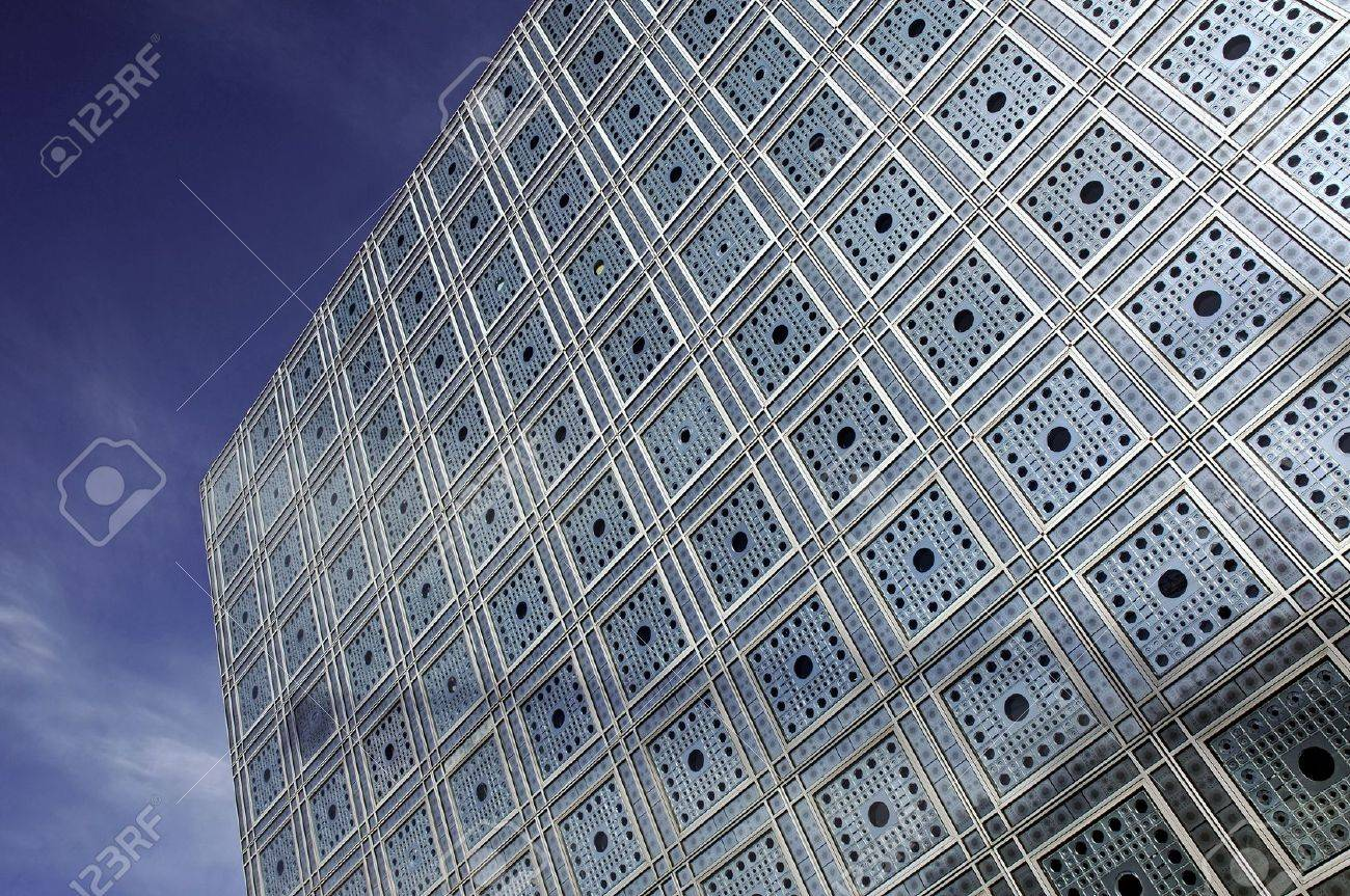 Modern Architecture France france, paris: the famous institut du monde arabe; arabic world