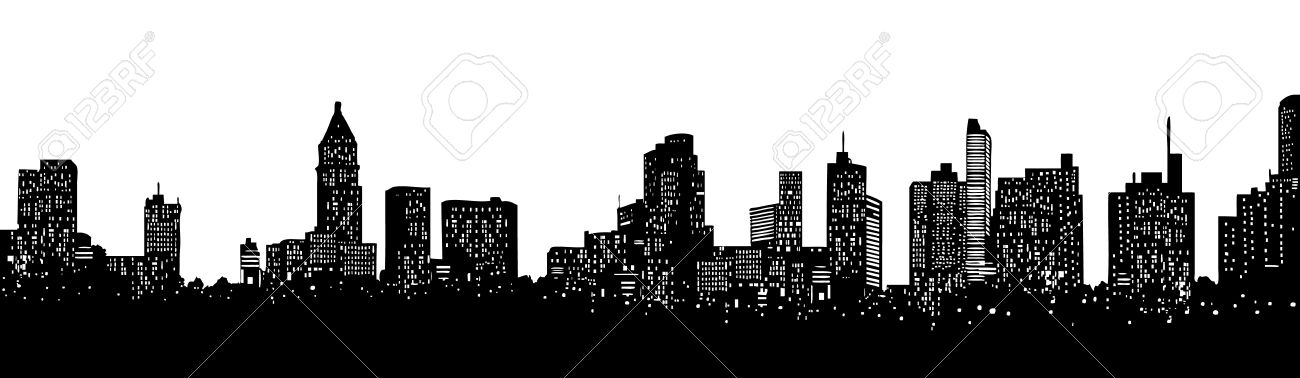 Skyline of an imaginative city in America Stock Vector - 2905425