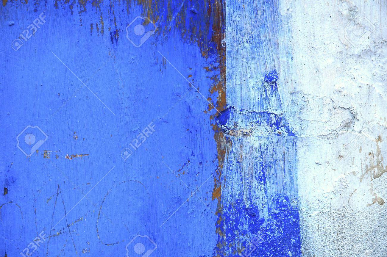 Portugal Obidos Peinture Sur Un Mur Détail D Une Peinture Murale Bleu Le Blanc Avec Le Bleu Est La Couleur Traditionnelle Pour Les Maisons Dans