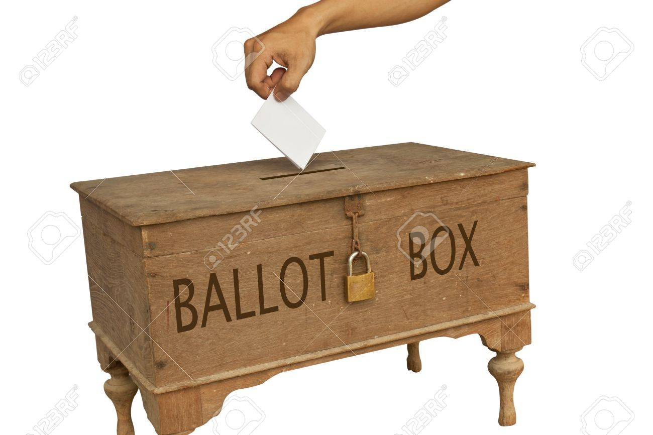 Voting Box In Isolated Picture Stock Photo, Picture And Royalty ...