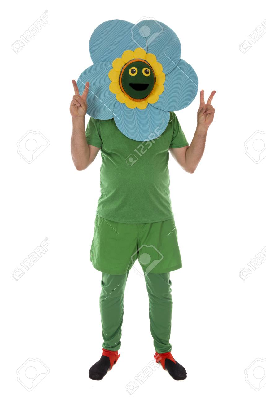 A Flower Power Concept A Flower Giving Peace Symbol Stock Photo