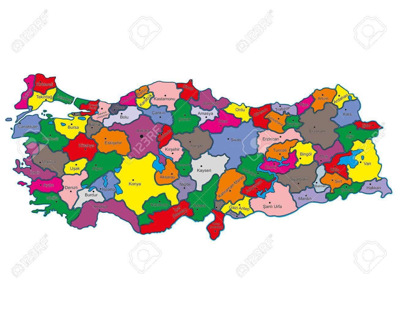 Picture of: Turkey Geographical Map Stock Photo Picture And Royalty Free Image Image 31579598