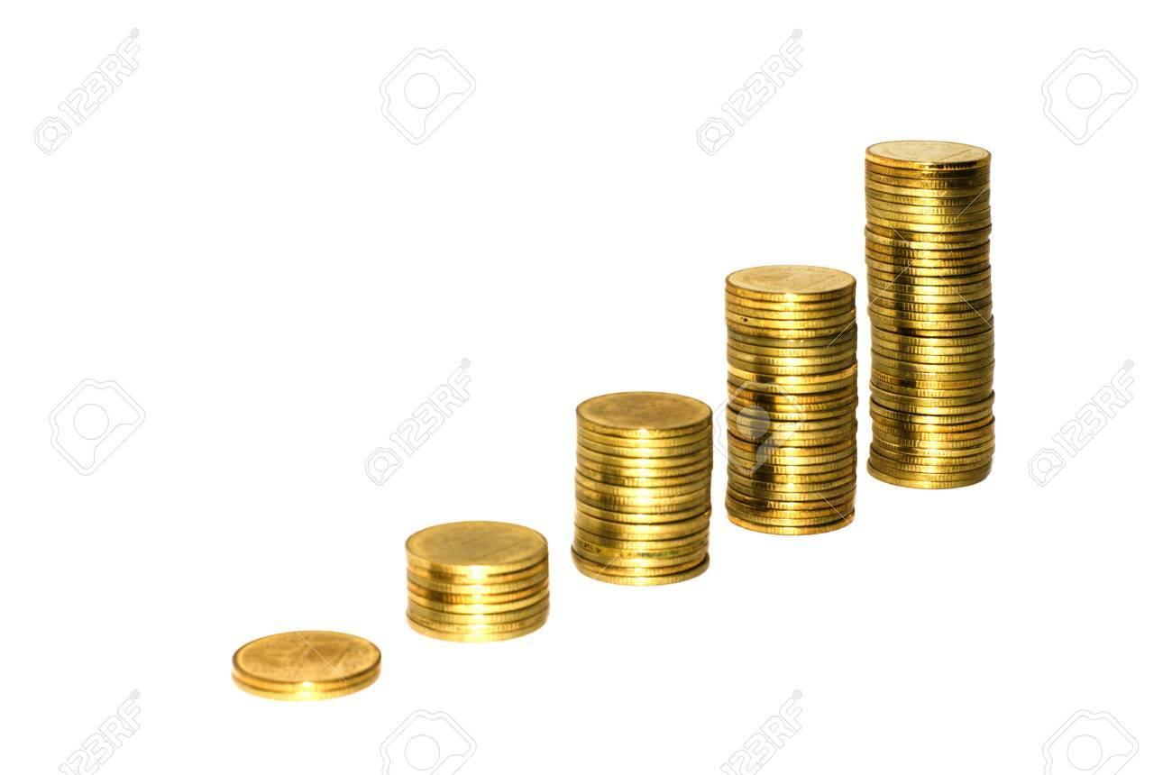 Coin thai bath on white background Stock Photo - 14850533