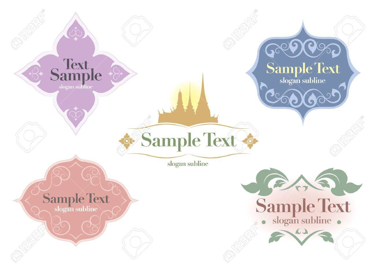 Vector decorative design thai Stock Vector - 16452598
