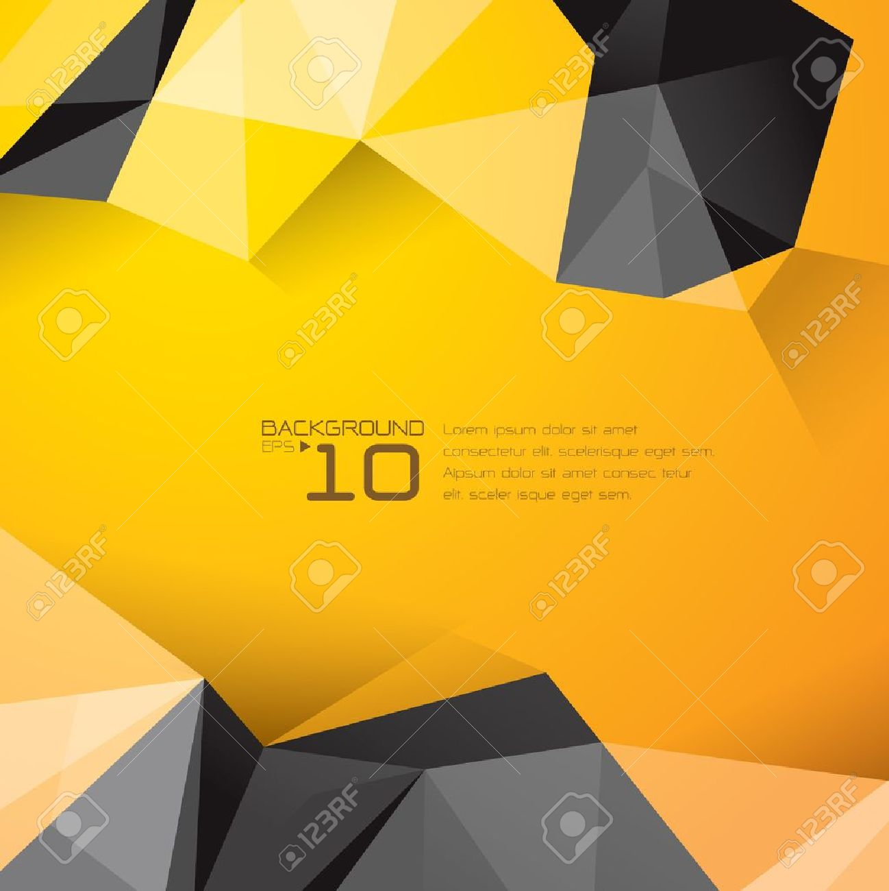 Polygonal design - Abstract geometrical background Stock Vector - 21640138