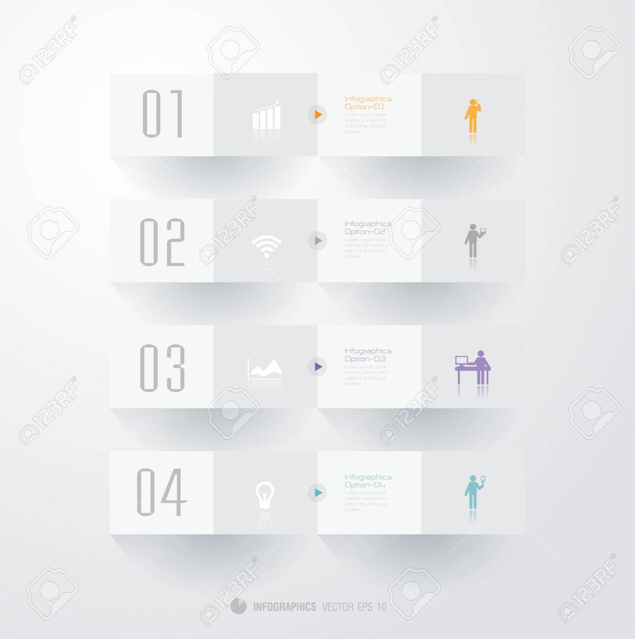 Infographics vector design template  Modern business step origami style options banner Stock Vector - 22229005