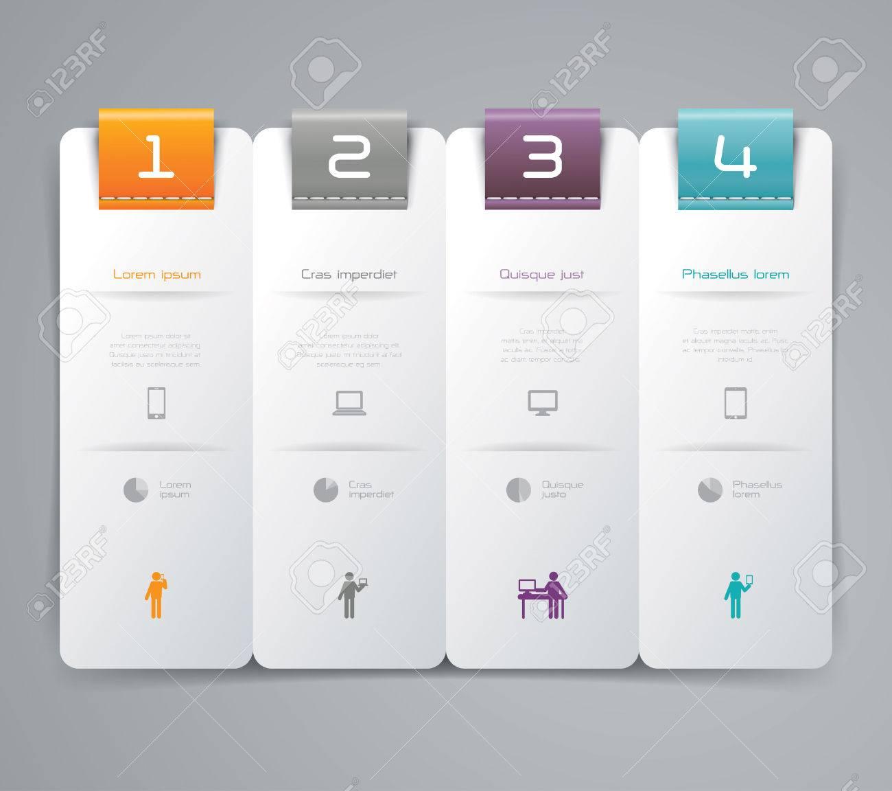 Infographics design template Stock Vector - 23867392