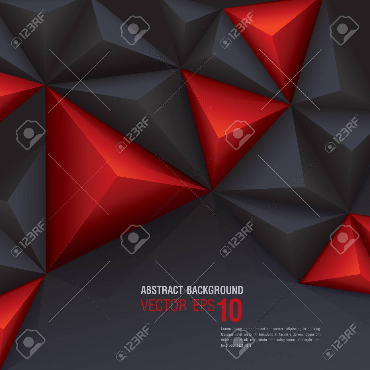 Black and red geometric background - 24168862