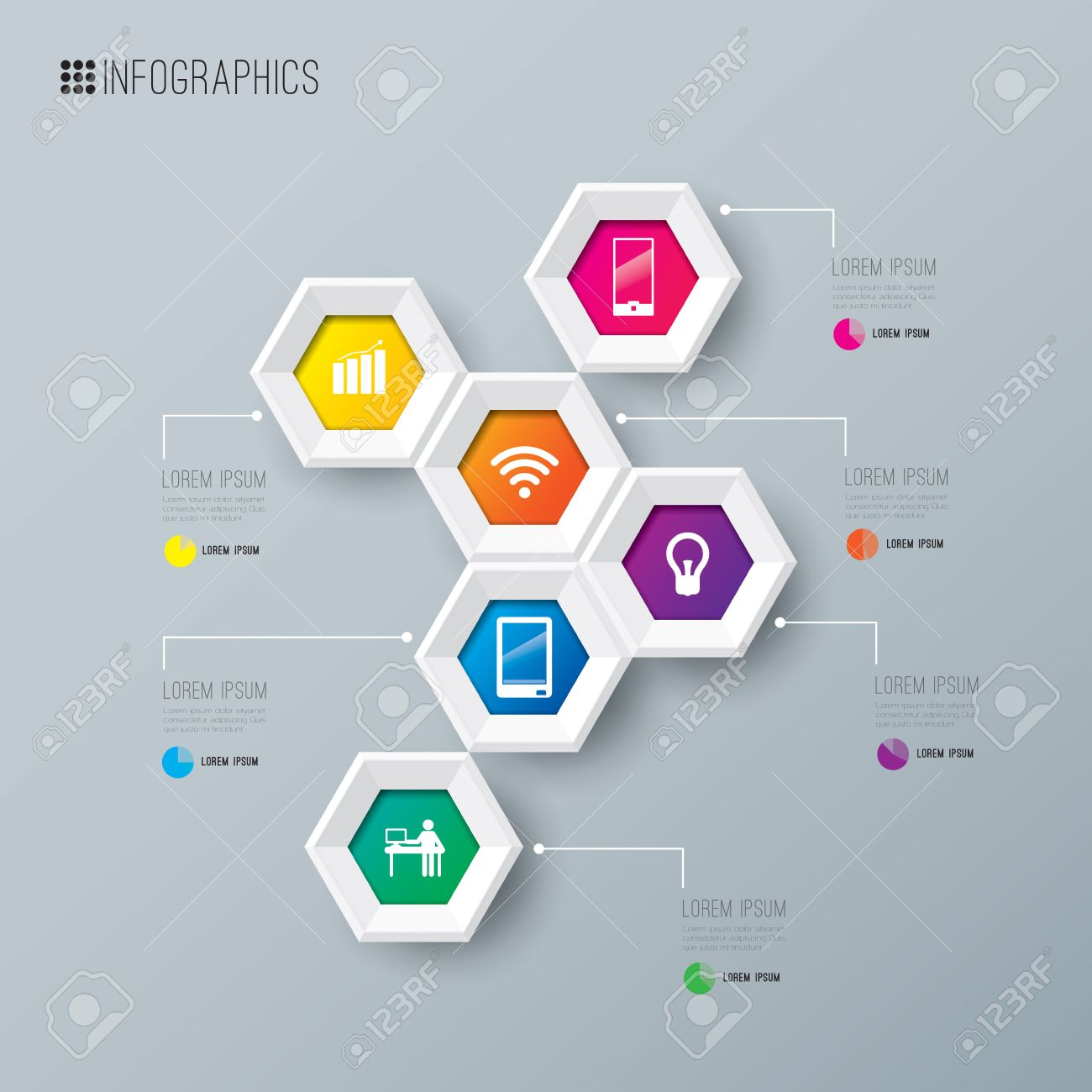 Infographics Design Template Royalty Free Cliparts, Vectors, And ...