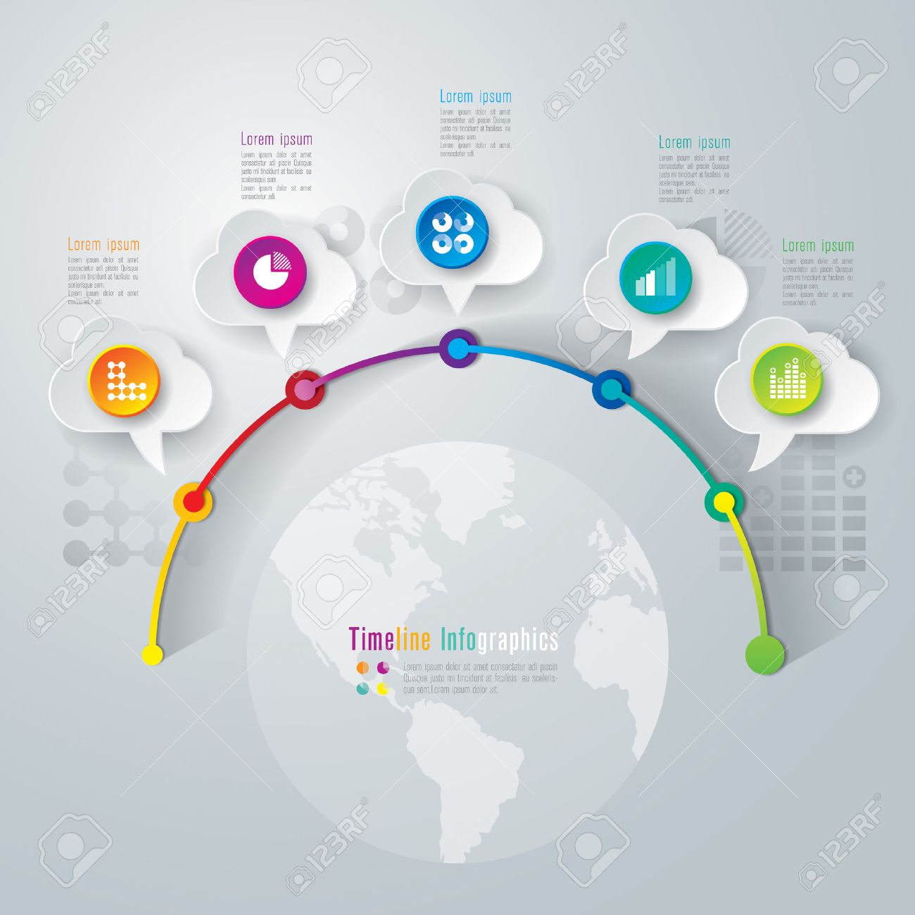 Timeline infographics design template Stock Vector - 26752652
