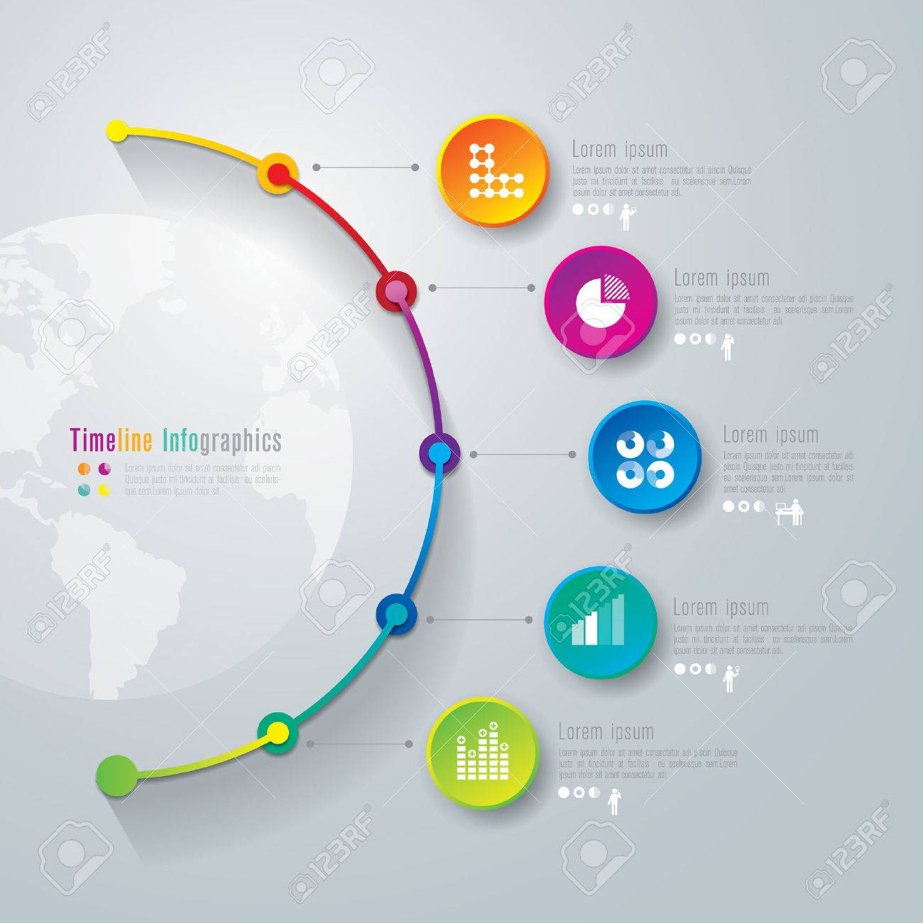 timeline infographics design template royalty free cliparts vectors