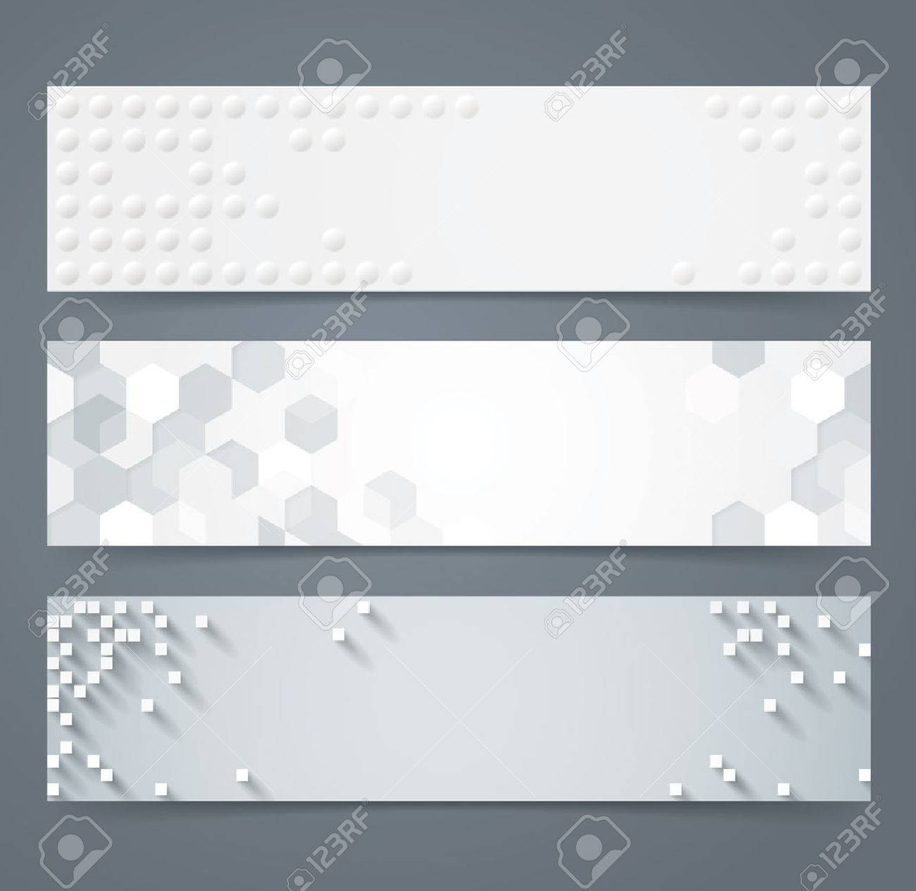 Collection of geometric background banner. - 40921041