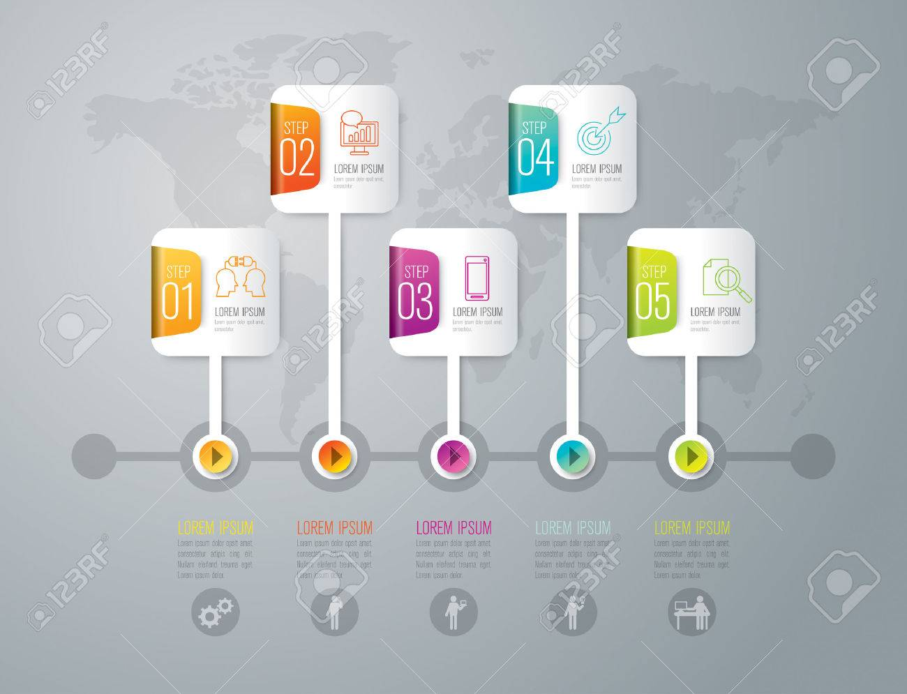 Infographic design template and marketing icons. - 44207822