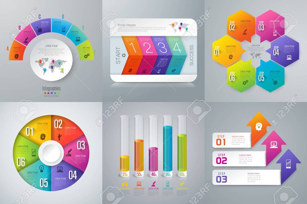 Set of infographics design and business icons. - 128433469