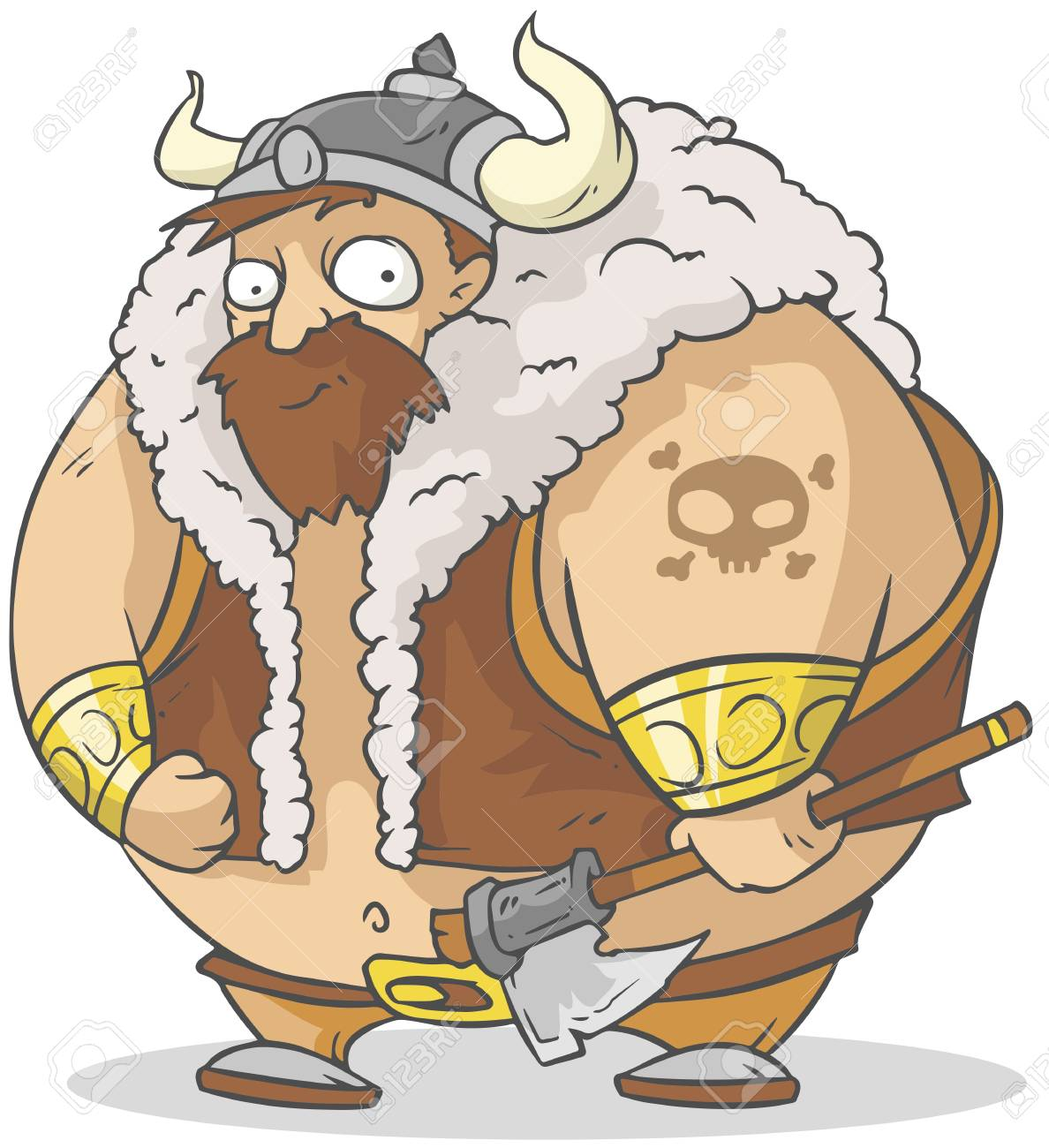 A Illustration Of Funny Cartoon Viking Royalty Free Cliparts