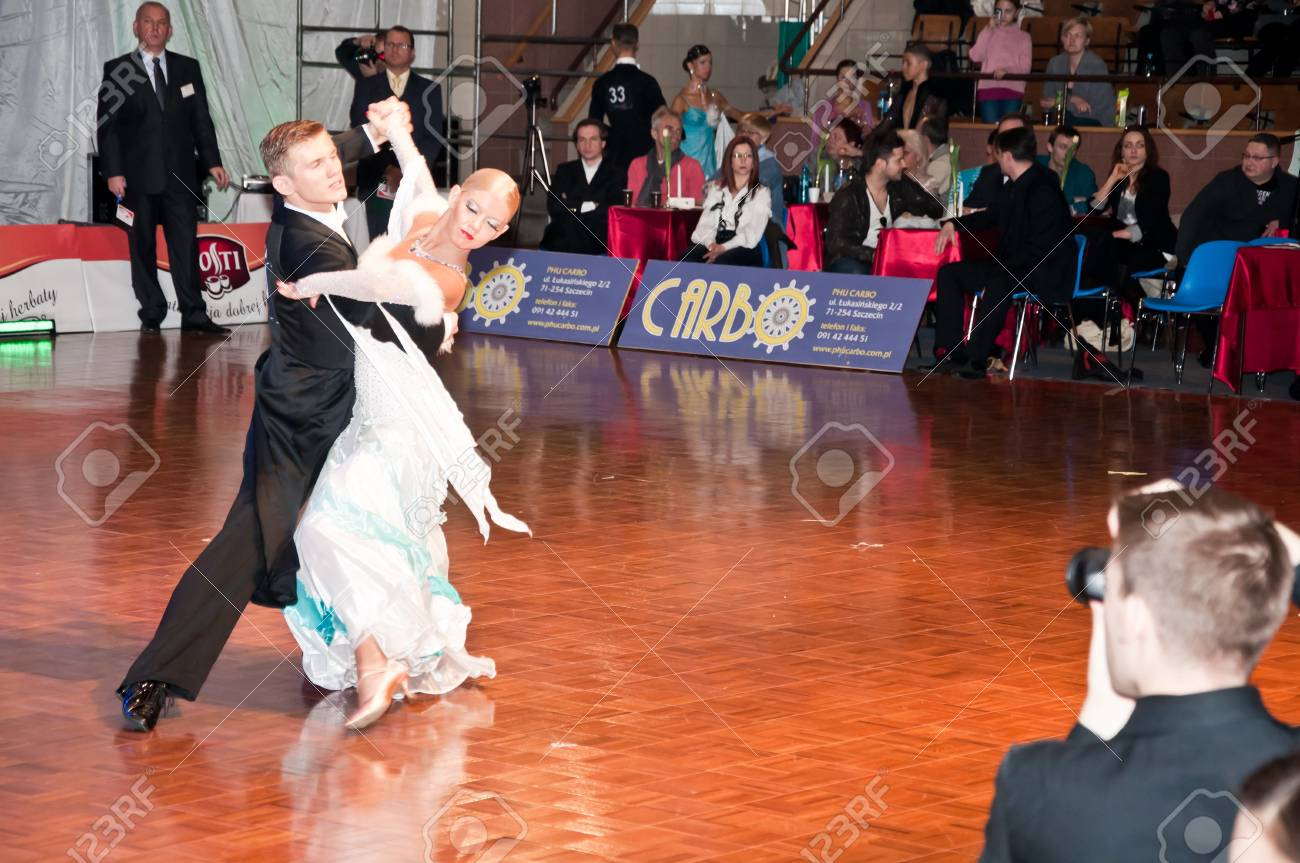 Polish championship in the ballroom dance March 12 in Szczecin 2011, Poland Stock Photo - 9025310