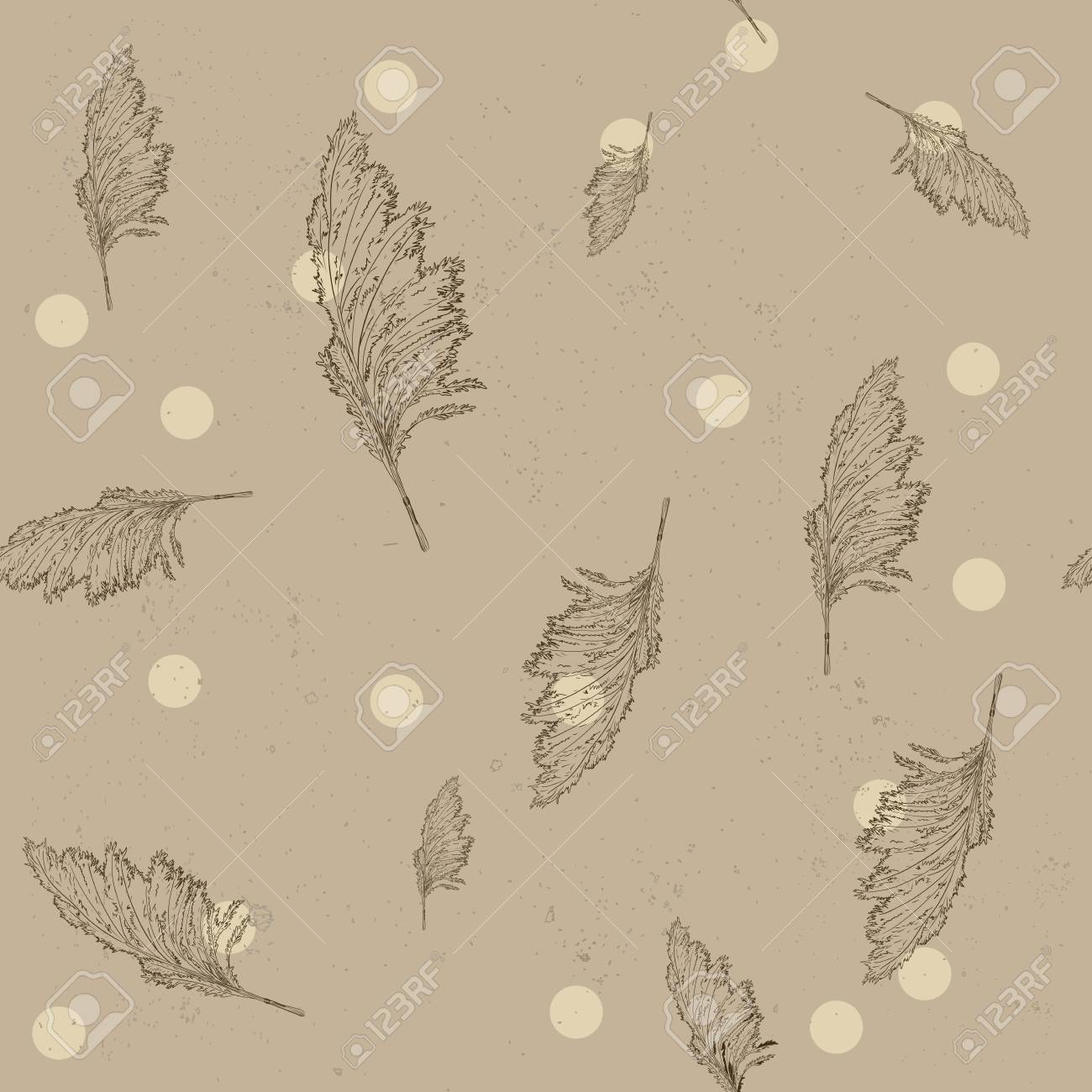 Vintage seamless texture with cane Stock Vector - 13702072