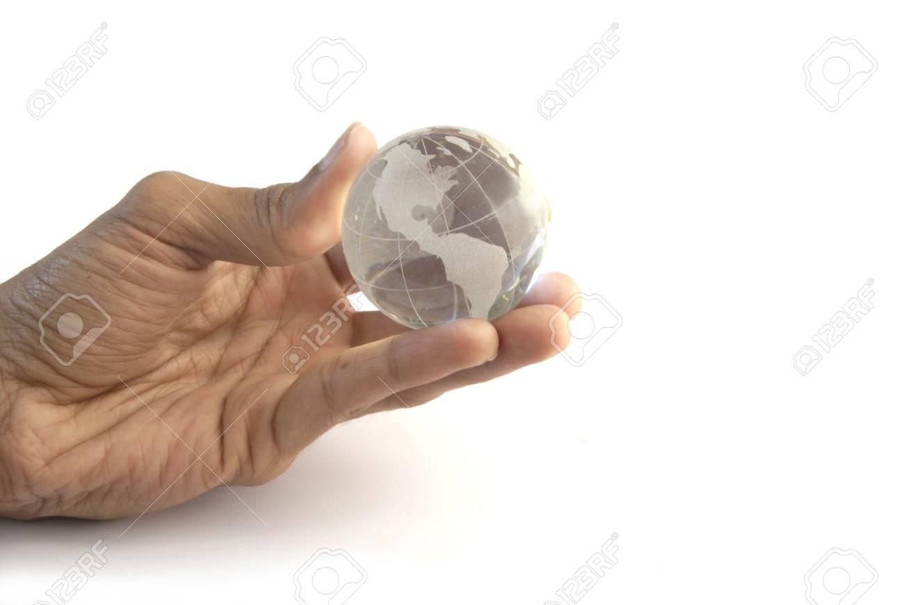 Globe in hand - 3559057