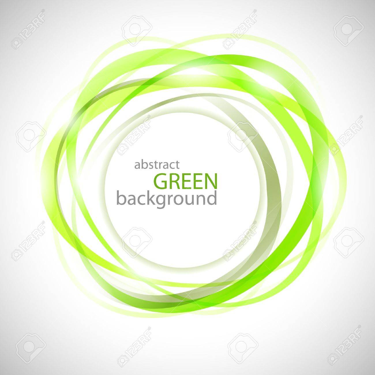 Abstract green rings vector background Stock Vector - 14652649