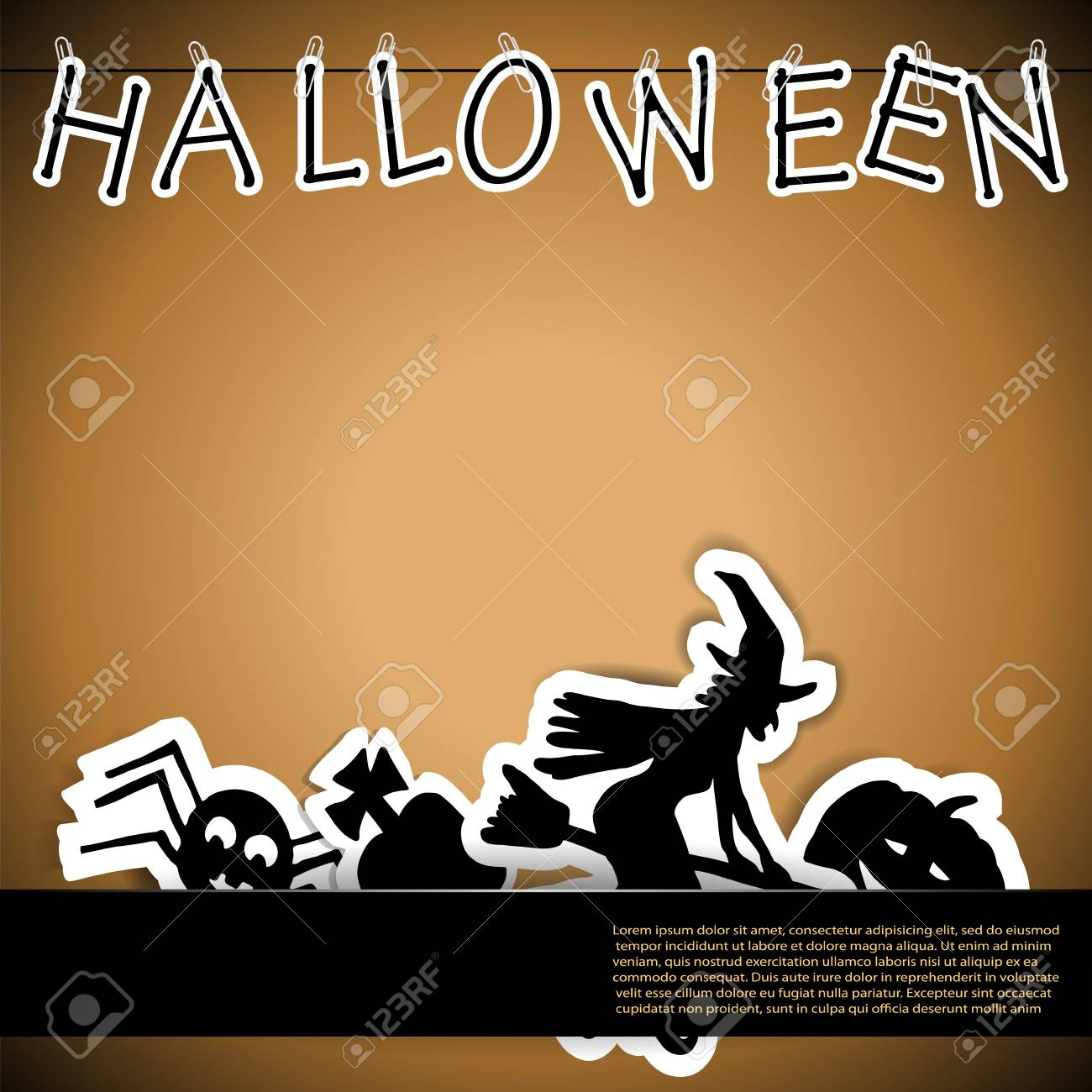 Halloween card with stickers vector illustration Stock Vector - 15914964