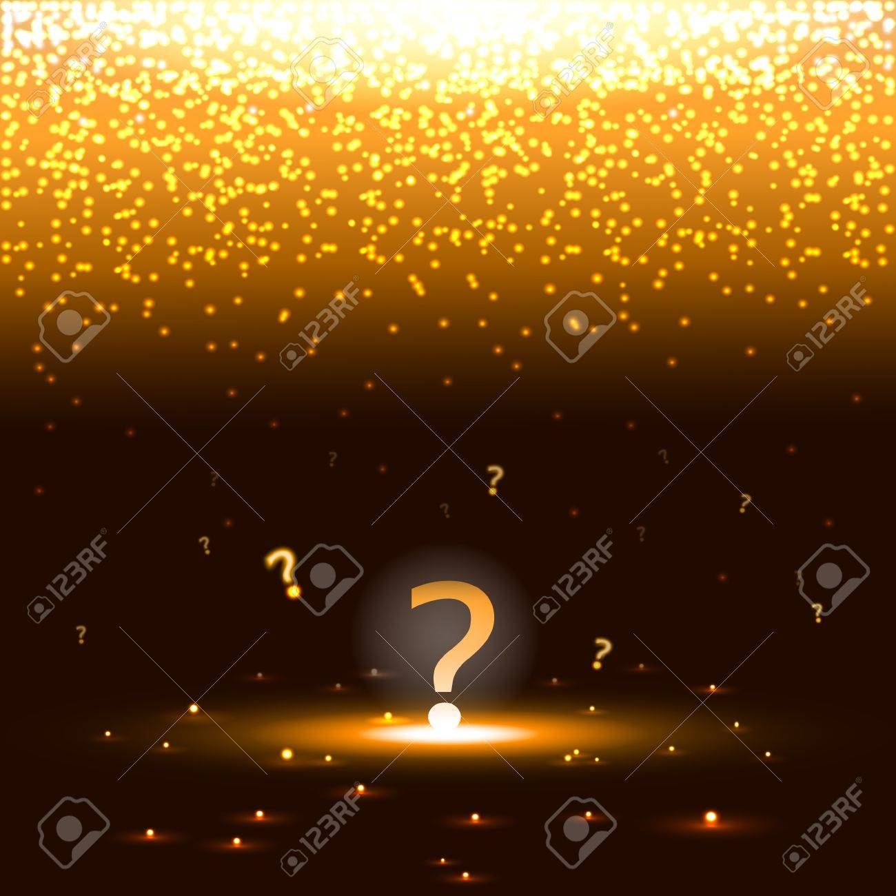 Glowing question mark with sparks Stock Vector - 17745865